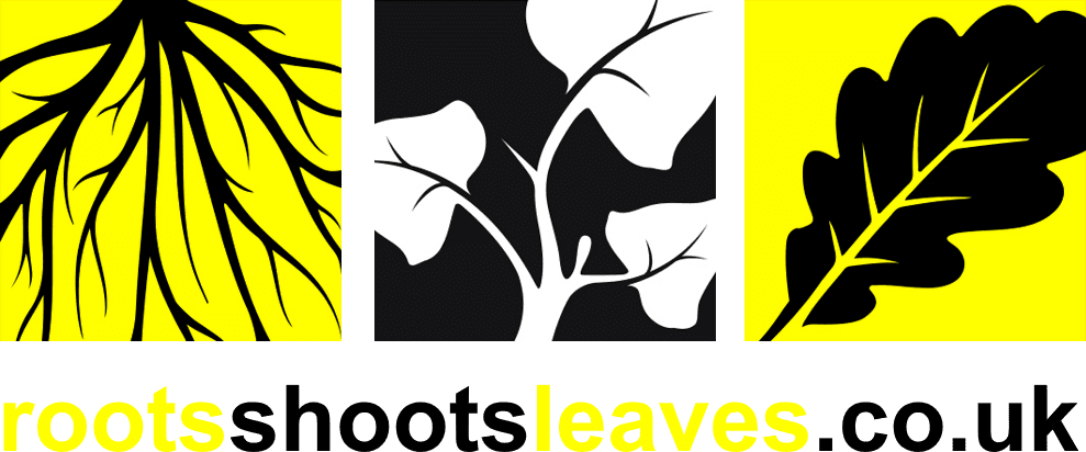 Roots Shoots Leaves Japanese Knotweed logo